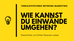 Verkaufstechnik Network Marketing