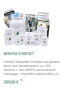 Natura Vitalis Marketingplan Berater Startpaket