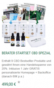 Natura Vitalis Marketingplan Berater Startpaket CBD